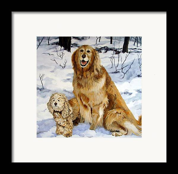 Dog Framed Print featuring the painting Best Friends by Sandra Chase