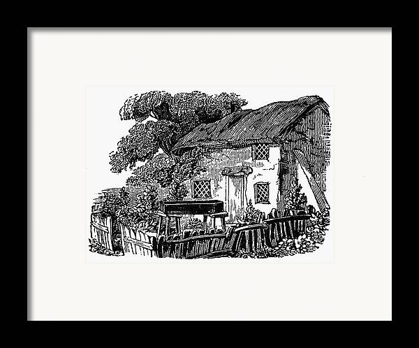 19th Century Framed Print featuring the photograph Bewick: Rural House by Granger