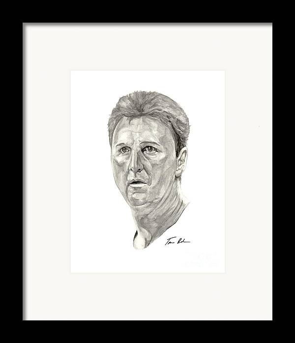 Larry Bird Framed Print featuring the painting Bird by Tamir Barkan