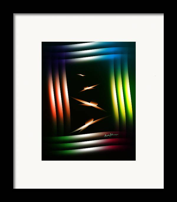 Abstract Framed Print featuring the digital art Birdhouse by Anthony Caruso