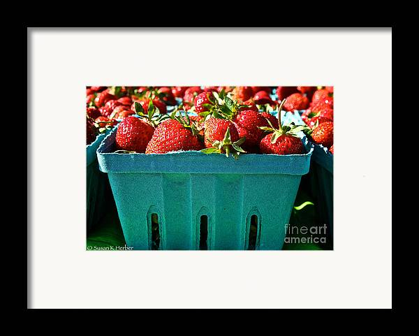 Food Framed Print featuring the photograph Blue Box by Susan Herber
