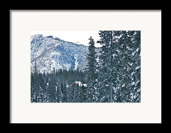Landscape Framed Print featuring the photograph Blue Green Mountain by Lisa Spencer