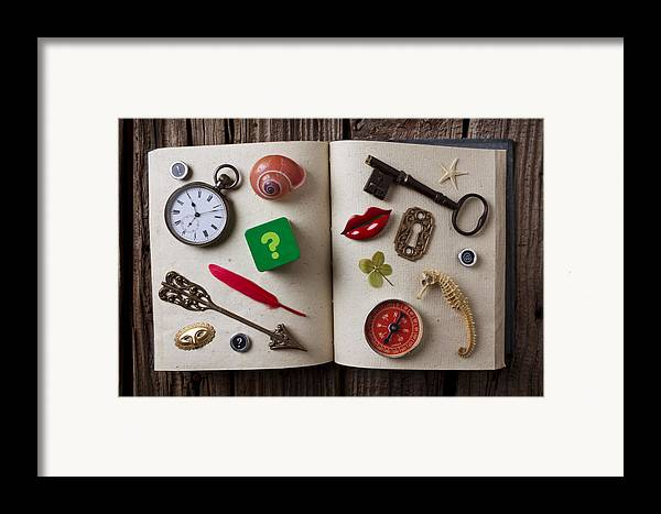 Book Framed Print featuring the photograph Book Of Secrets by Garry Gay