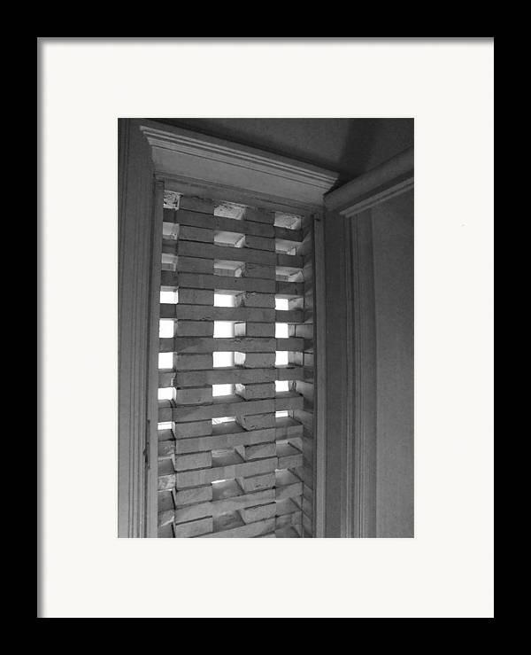 Bricks Framed Print featuring the photograph Bricks In The Window by Anna Villarreal Garbis
