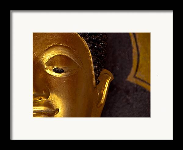 Buddha Framed Print featuring the photograph Buddha's Face by Preston Coe