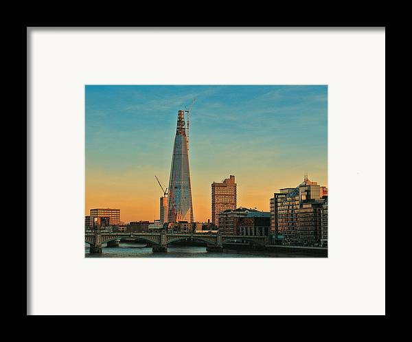Shard London Bridge Framed Print featuring the photograph Building Shard by Jasna Buncic