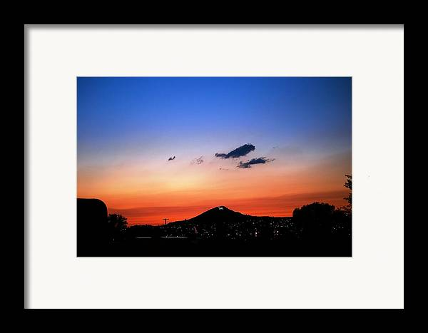 Sunset Framed Print featuring the photograph Butte Montana Sunset by Kevin Bone