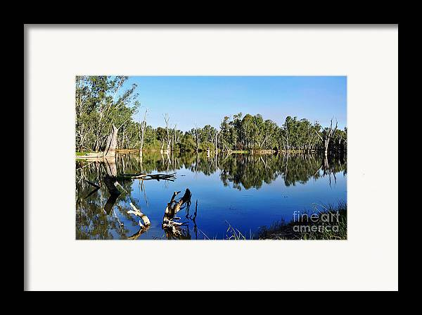 Photography Framed Print featuring the photograph By The River by Kaye Menner