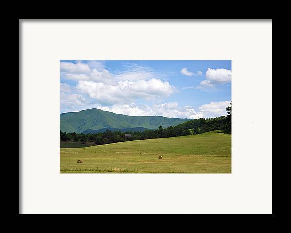 Landscapes Framed Print featuring the photograph Cabin In The Smokies by Jan Amiss Photography