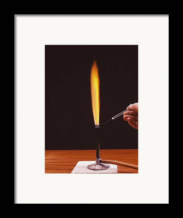 Calcium Framed Print featuring the photograph Calcium Flame Test by Andrew Lambert Photography