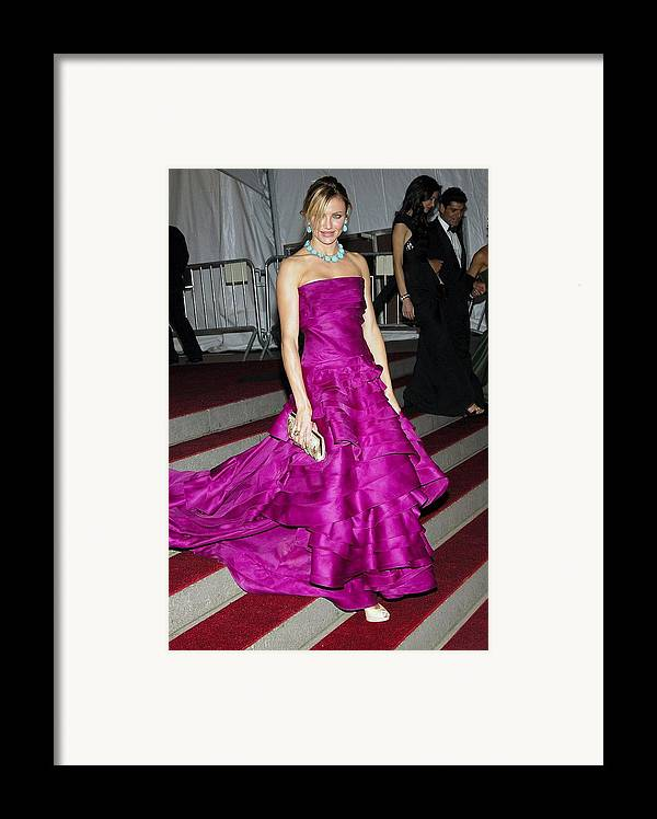 Auto Add Lbd Framed Print featuring the photograph Cameron Diaz Wearing Christian Dior by Everett