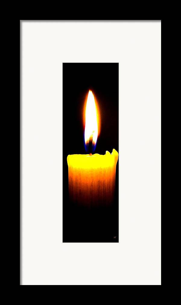 Candle Framed Print featuring the photograph Candle Power by Will Borden