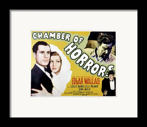 1940 Movies Framed Print featuring the photograph Chamber Of Horrors Aka Door With Seven by Everett