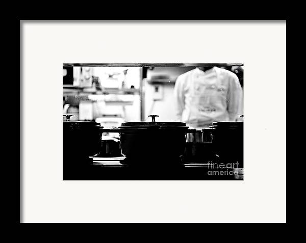 Kitchen Framed Print featuring the photograph Chef by Dean Harte