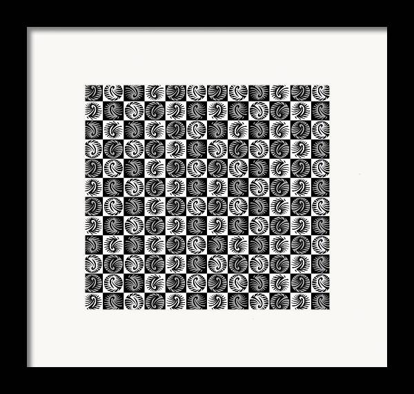 Digital Art Framed Print featuring the digital art Chess Board by Sumit Mehndiratta