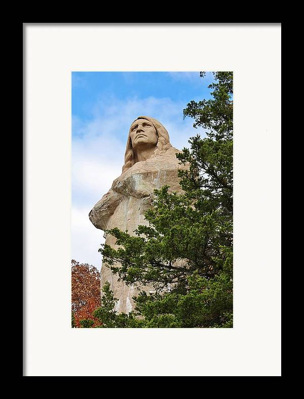 Statue Framed Print featuring the photograph Chief Blackhawk Statue by Bruce Bley