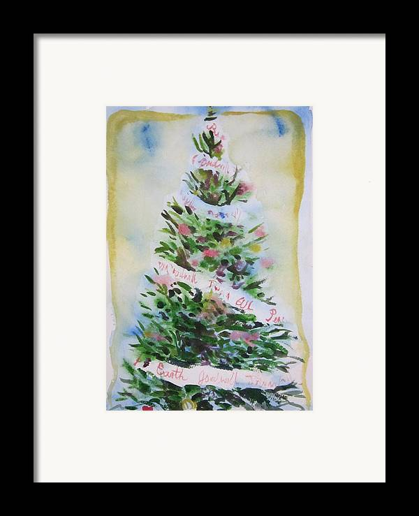 Tree Framed Print featuring the painting Christmas Tree by Tilly Strauss
