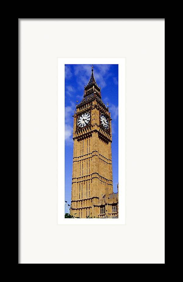 London Framed Print featuring the photograph Citymarks London by Roberto Alamino