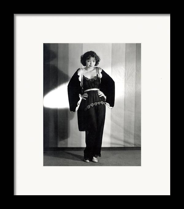 1920s Framed Print featuring the photograph Clara Bow, Around 1929 by Everett