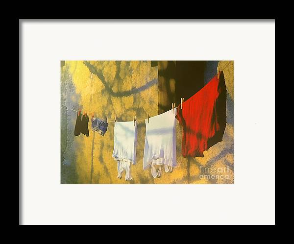 Odon Framed Print featuring the painting Clothing by Odon Czintos