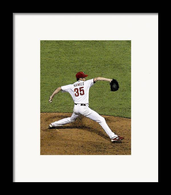 Cole Hamels Framed Print featuring the photograph Cole Hamels by Gerry Mann