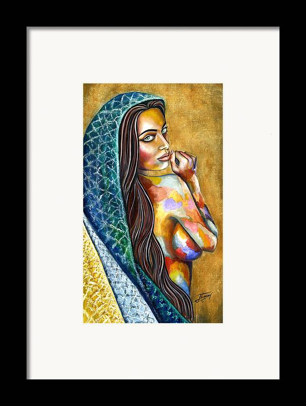 Figure Framed Print featuring the painting Concubine by Jorge Namerow