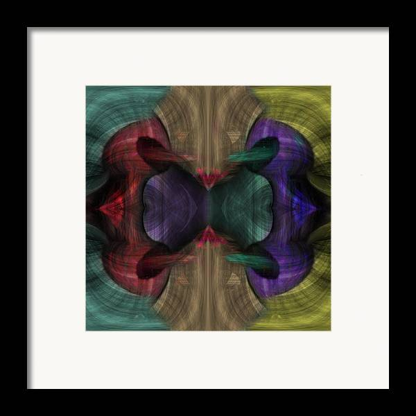 Conjoint Framed Print featuring the painting Conjoint - Multicolor by Christopher Gaston