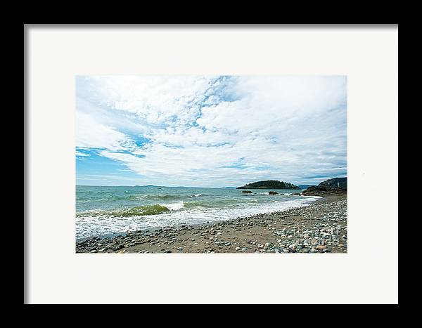 Rocky West Coast Beach Shore Framed Print featuring the photograph Constant by Artist and Photographer Laura Wrede