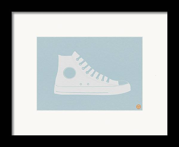 Framed Print featuring the photograph Converse Shoe by Naxart Studio