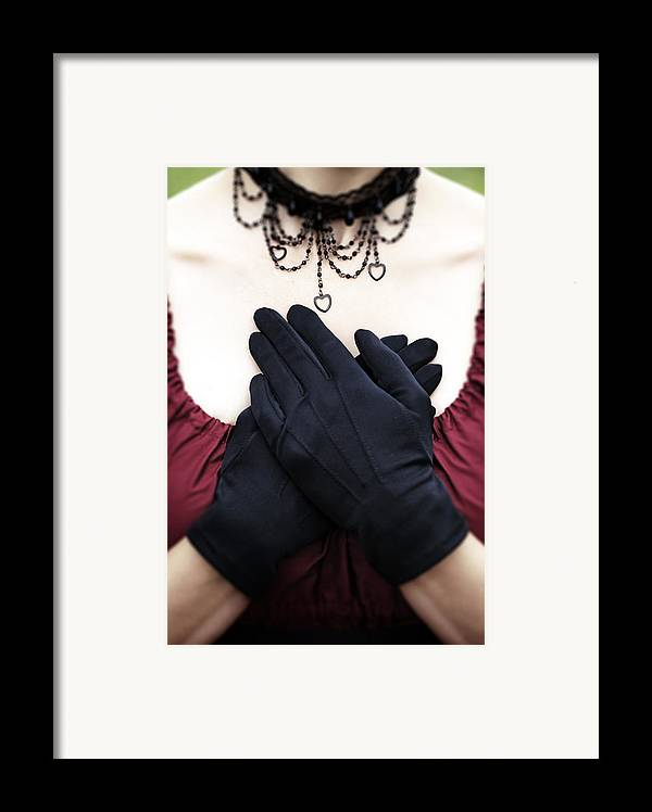 Female Framed Print featuring the photograph Crossed Hands by Joana Kruse