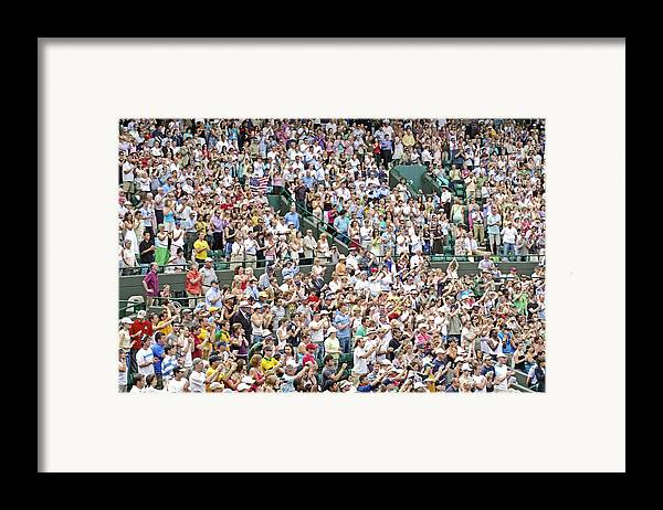 Audience Framed Print featuring the photograph Crowd Of People by Carlos Dominguez