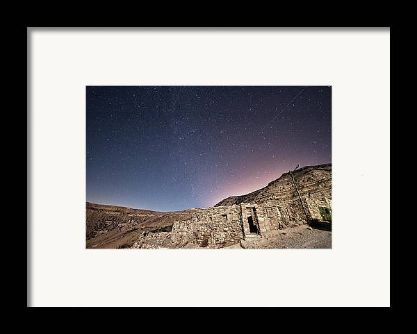 Horizontal Framed Print featuring the photograph Dana Nature Reserve. by Rayan Azhari - Email rayanazhari@gmail.com