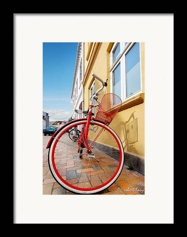 Bicycle Framed Print featuring the photograph Danish Bike by Robert Lacy