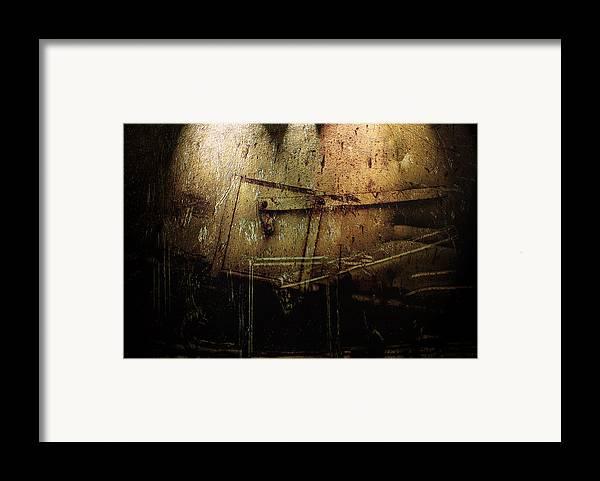 Metal Framed Print featuring the digital art Dark Door by Janet Kearns