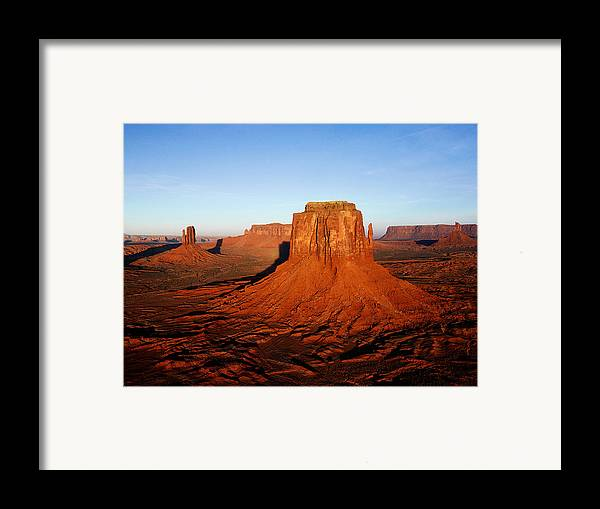 Framed Print featuring the painting Desert by Dhirendra Jaiswal