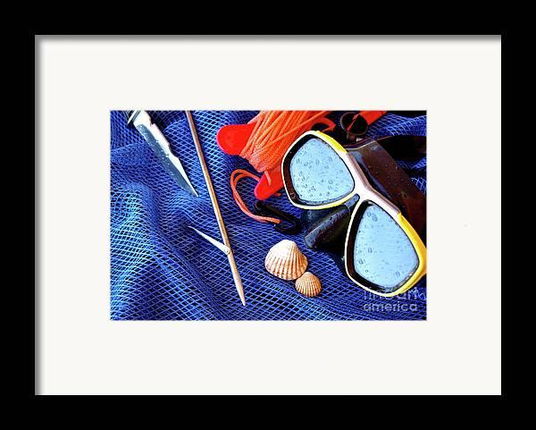 Apnea Framed Print featuring the photograph Dive Gear by Carlos Caetano