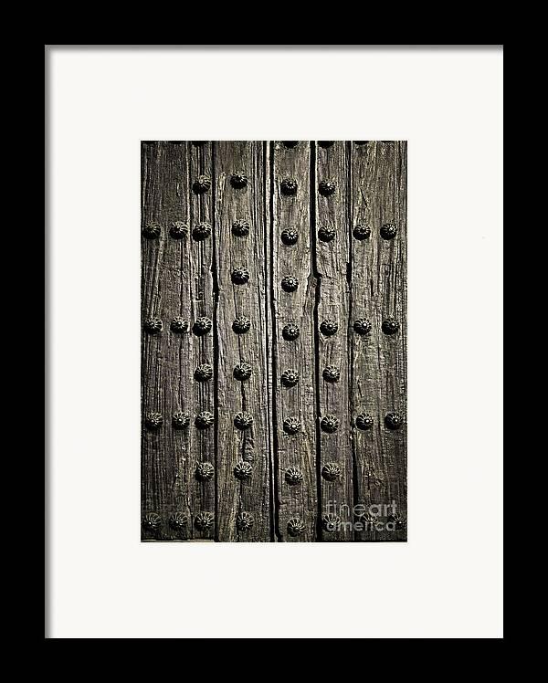 Door Framed Print featuring the photograph Door Detail by Elena Elisseeva