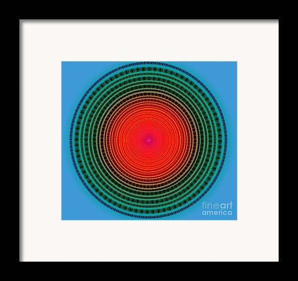 Abstract Framed Print featuring the digital art Dots X-ray by Atiketta Sangasaeng