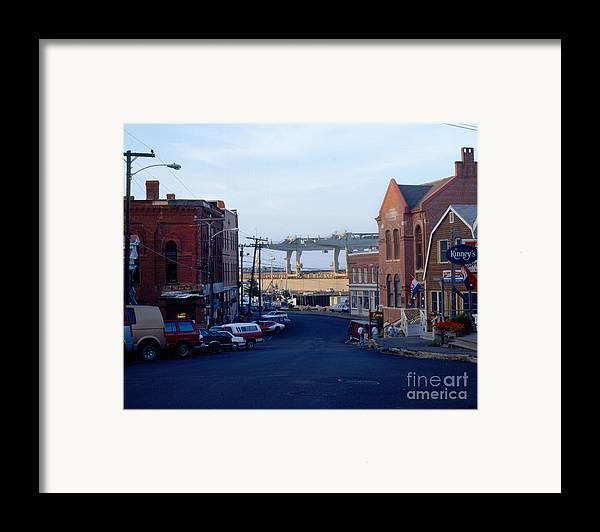 Eastport Framed Print featuring the photograph Downtown Eastport Maine by Geri Harkin-Tuckett