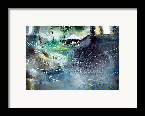 Nature Framed Print featuring the painting Dream House 2 by Anil Nene