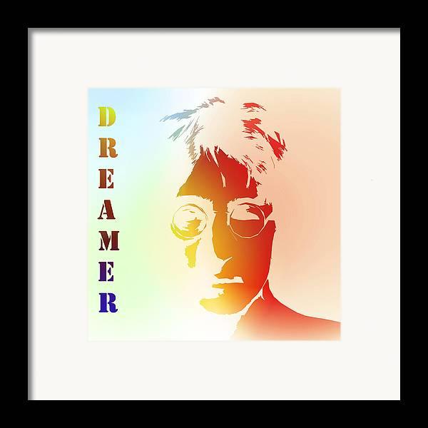 John Lennon Dreamer Not The Only One Beatle Beatles Song Songwriter Dream Framed Print featuring the digital art Dreamer 2 by Stefan Kuhn