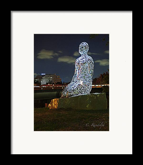 Jaume Plensa Sculptures Framed Print featuring the photograph Dreaming Of Tolerance by Cheri Randolph