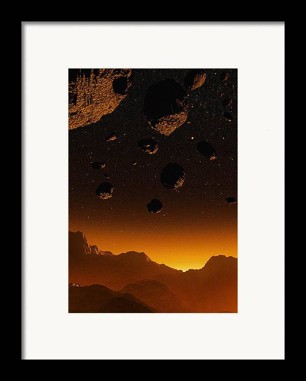 Earth Framed Print featuring the photograph Early Earth, Computer Artwork by Mehau Kulyk