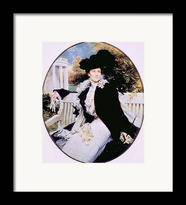 1900s Portraits Framed Print featuring the photograph Edith Roosevelt 1861-1948, First Lady by Everett
