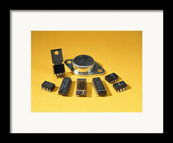 Component Framed Print featuring the photograph Electronic Circuit Board Components by Andrew Lambert Photography