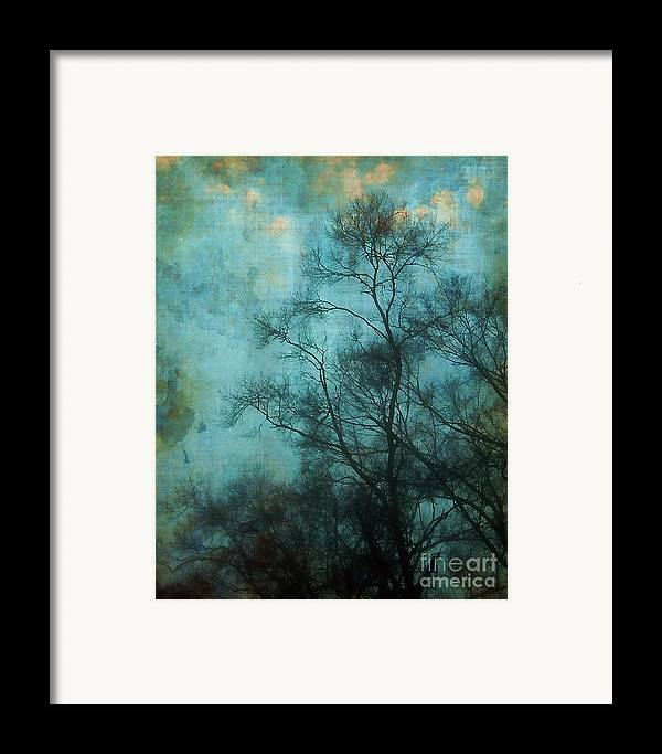 Aqua Framed Print featuring the photograph Evening Sky by Judi Bagwell
