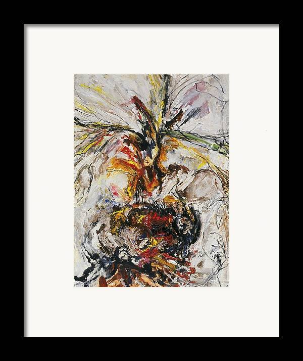 Fine Art Framed Print featuring the painting Explosion Two by Iris Gill