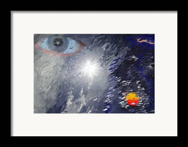 Abstract Framed Print featuring the digital art Eye In The Sky by Mark Stidham