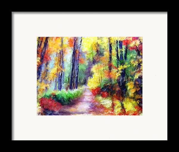 Fall Framed Print featuring the mixed media Fall Melody by Marilyn Sholin