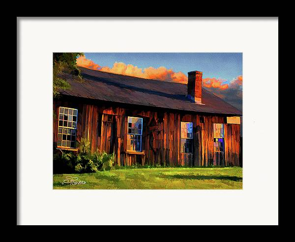 Shed Framed Print featuring the painting Farrier's Shed by Suni Roveto